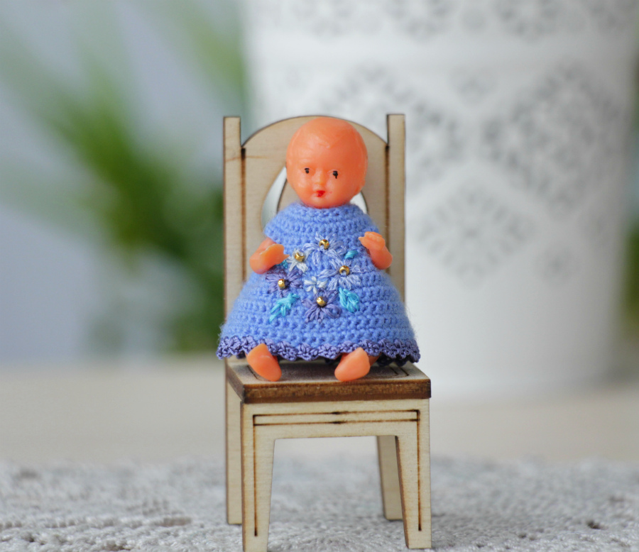 Miniature dolls dresses collection