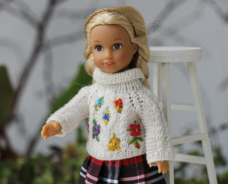 AG mini doll Julia White Sweater