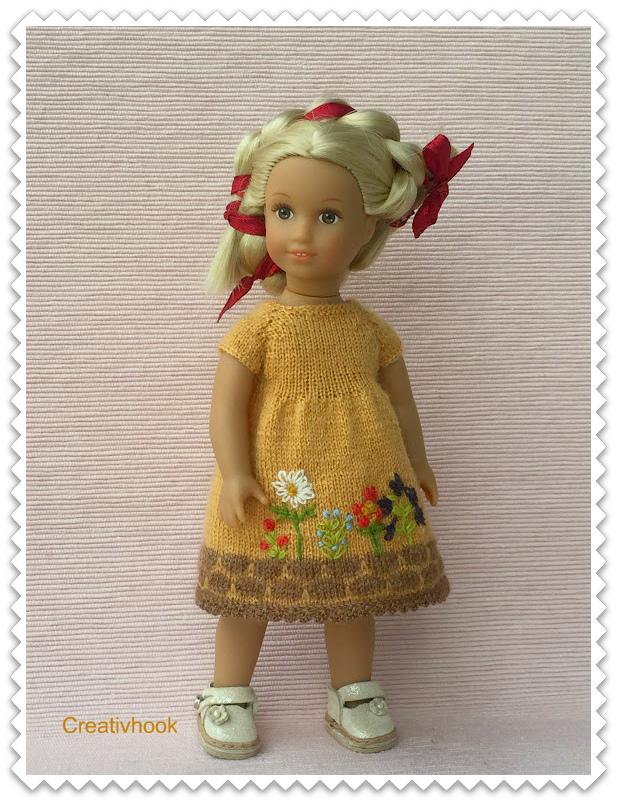 Yellow dress for AG mini doll Julia