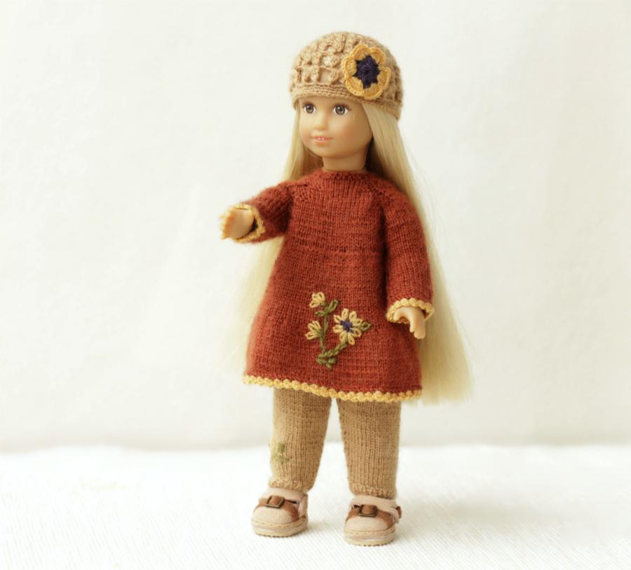 fox dress doll