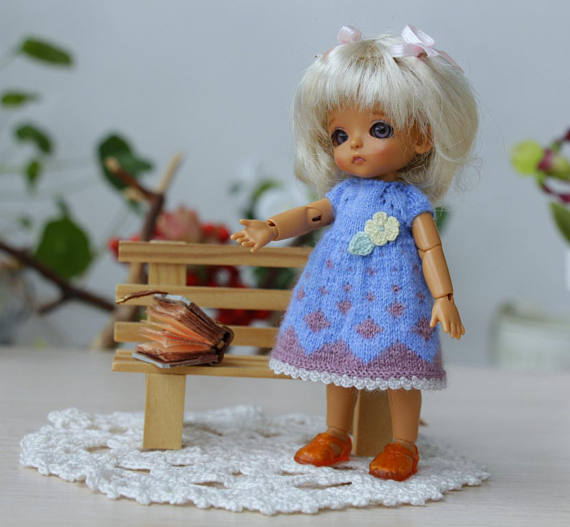 Blue dresses for Dolls