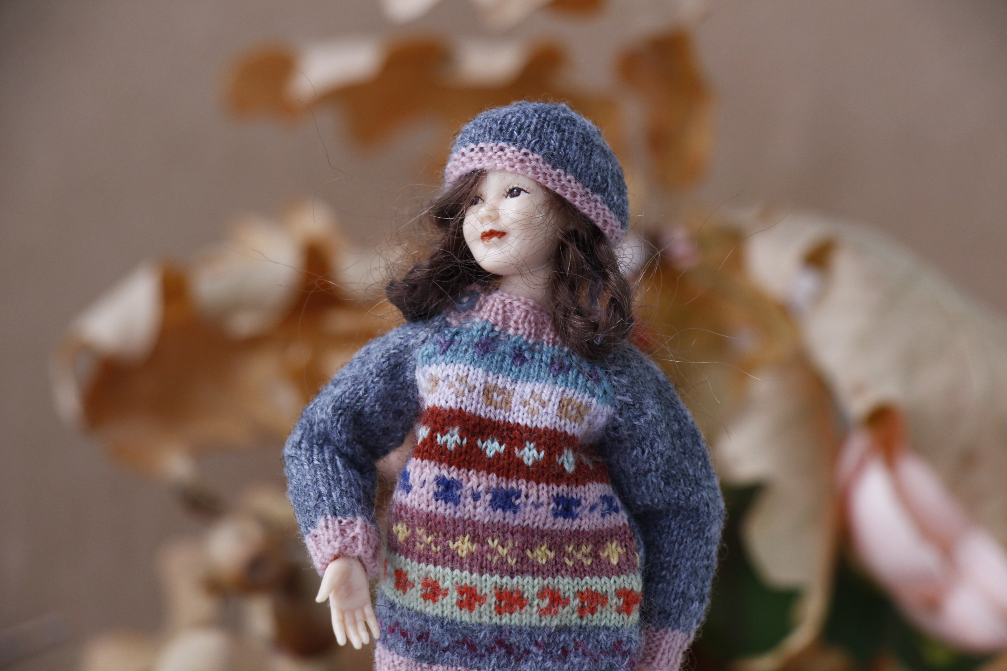 Fair Isle sweater for Heidi Ott lady doll